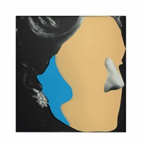 noses and ears, etc: earring and head (with nose and ear) by john baldessari