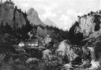 mühle im hochgebirge by johannes gysbert vogel the younger
