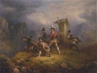wegelagerer auf wachposten by pierre théodore colson