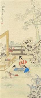 1982 壬戌 女萝绣凤图 by liu lingcang