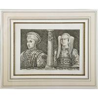 portrait de louis de gonzagne et sa femme barbara by andrea mantegna