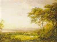 a prospect of edinburgh from hound point looking east towards the castle and arthur's seat by jane nasmyth