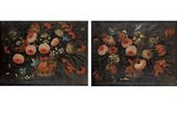 cestas con flores (pair) by josé de arellano