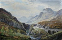 view of glencoe, highlands by george melvin rennie