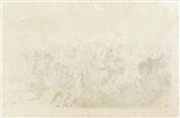 die ungarnschlacht bei pressburg 907 by wilhelm lindenschmit the elder