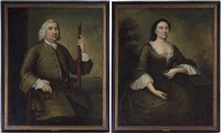 portrait of mr. andrew sigourney (+ portrait of mrs. andrew sigourney; pair) by joseph badger