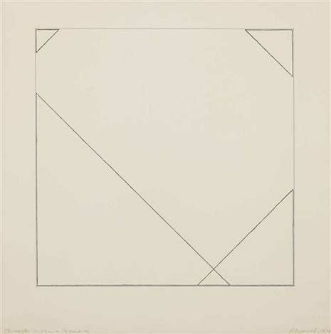 4 triangles within a square 1 by robert mangold