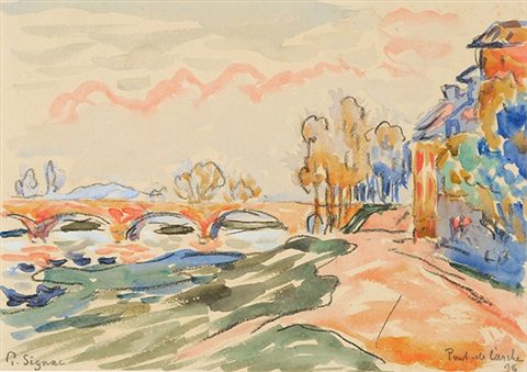 pont de larche by paul signac