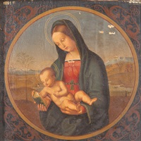 madonna conestabile (tondo) (after raffael) by bernhard endres