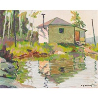 hunters cabin (+ pine island; 2 works) by harold macavoy