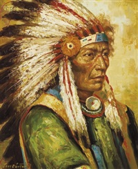 portrait of an indian chief by troy denton
