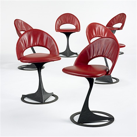 chairs from the tabourettli theatre set of 6 by santiago calatrava