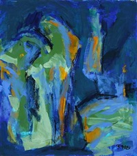 composition in blue by randi kornerup-bang