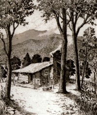 mount le conte, the great smokies, tennessee by leon rene pescheret