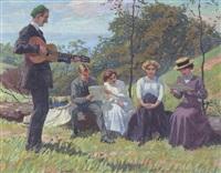 singende gesellschaft im freien by max vollmberg