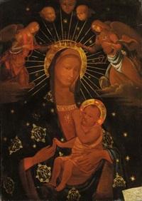 madonna con bambino ed angeli by ambrogio da (il bergognone) fossano