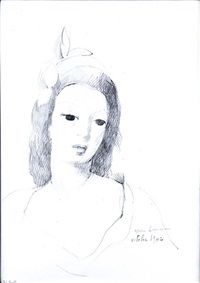 jeune fille en buste by marie laurencin
