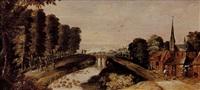 scène de vendange paysage au pont by philips de momper the younger