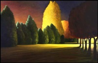 purple sky, yellow light by ross penhall