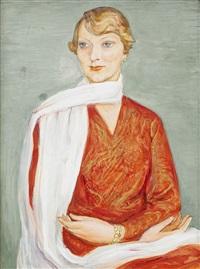 damen med den vita sjalen by nils von dardel