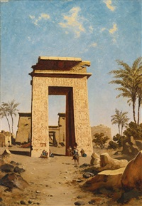 the south gate, karnak by paul rudolf linke