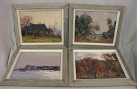 landscape (+ 3 others; 4 works) by george a. renouard