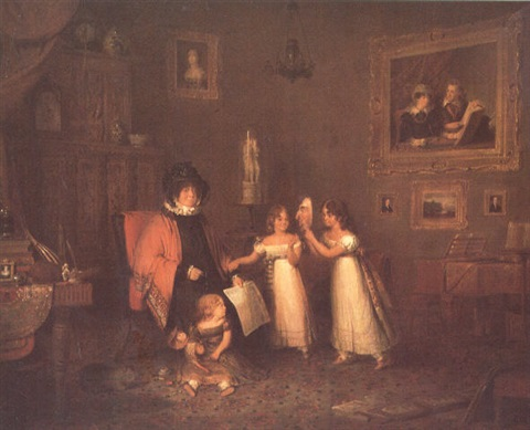 mrs cumin of relugas with her grandchildren 1826 by donald alexander