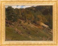 waldeshang im oktober by carl julius e. ludwig