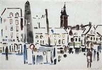 der marktplatz in würzburg by oskar koller