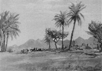 landschaft bei fort biskra in algerien by erwin kroner