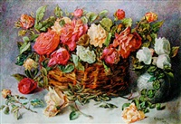 a still life of roses by w. d. guthrie