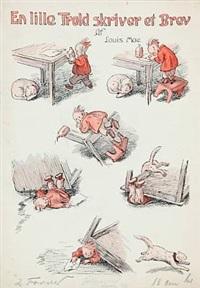 nip og nap- en lille fortælling uden ord (+ trold skriver brev; 2 works) by louis maria niels peder halling moe