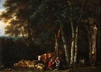 pastores jugando a las cartas by jacques d' arthois