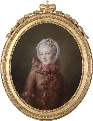 porträt einer jungen dame traditionell identifiziert als fürstin natalia petrovna galitzin by françois hubert drouais