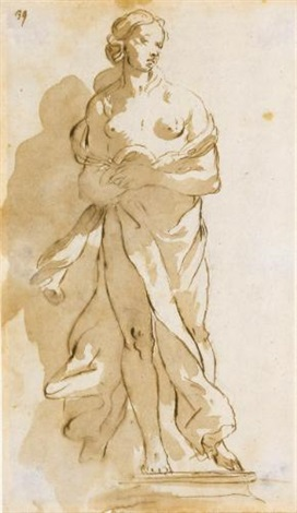 statue of a draped female figure by giovanni battista tiepolo