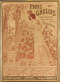 paris gaulois (poster) by auguste roedel