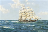 blue skies; the shun lee, 1866 by montague dawson