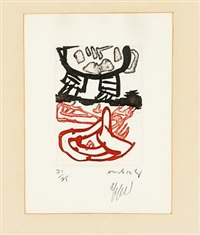 composition by karel appel and pierre alechinsky