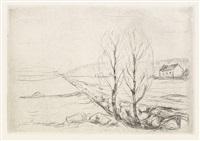 norsk landskap (from die kunst des radierens) by edvard munch