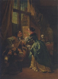 eine junge künstlerin und ihr kavalier by w. van der daele