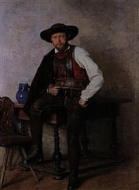 tiroler mann in tracht by emil strecker