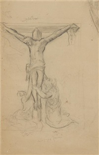 a crucifixion scene (study) by morgan russell
