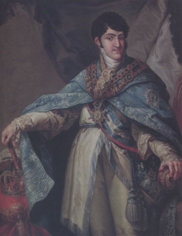 ferdinand vii king of spain by josé inglada aparicio