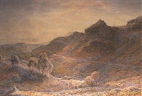 the castle rocks of the fairy glen, on the lledr, dolwyddelan, north wales by thomas danby