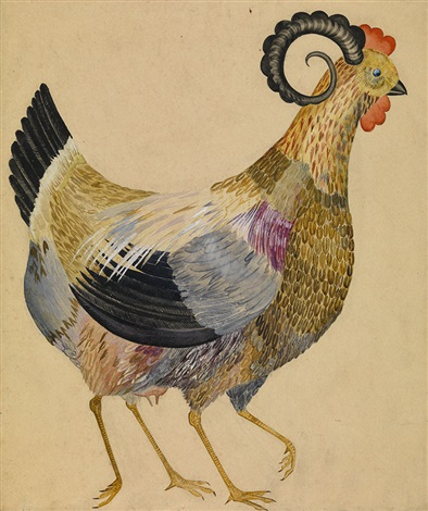 chicken (from fantastical birds) by antonina anushina