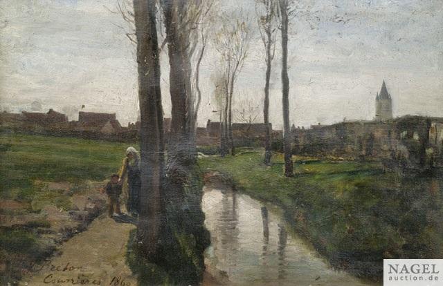 landschaft bei courrières by jules breton
