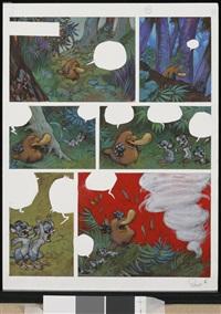 planche n°6 (for toto l'ornithorynque et le bruit qui rêve) by yoann chivard