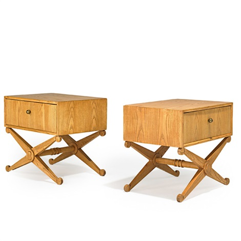 single drawer nightstands pair by andre arbus