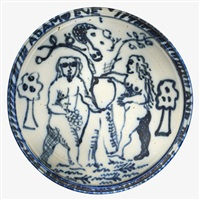 Wall-hanging Adam and Eve charger, 1975–1999