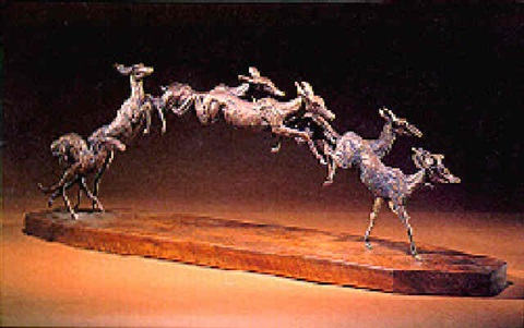 six leaping antelope by jan sweeney